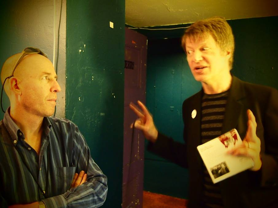 NELS CLINE AND DB BACKSTAGE AT WILCO SHOW, WARFIELD THEATER, SAN FRANCISCO, 2012, Photograph by Yuka Honda