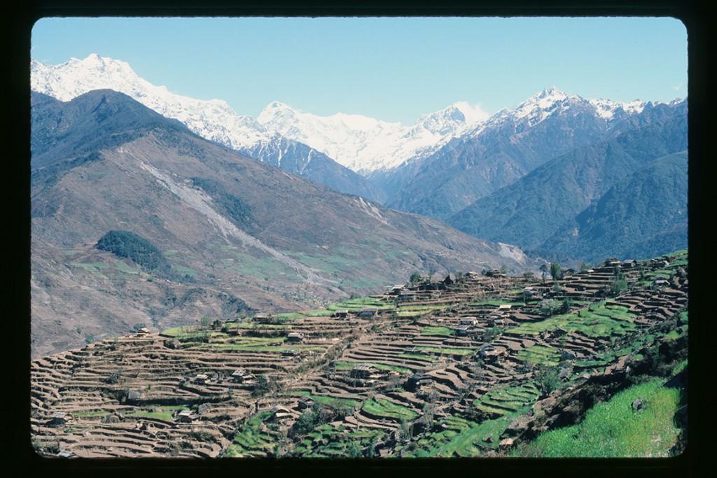 In Khumbu, near Namche Bazaar (Nupste, Lhotse, Everest), May 1986
