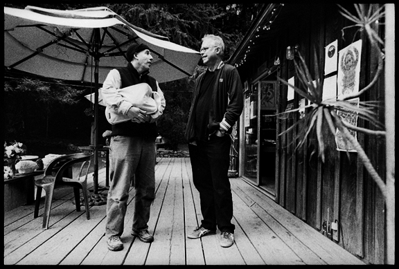Bill Frisell with db at The Henry Miller Library, Big Sur