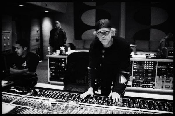 Ron Saint Germain, with assistant Albert Mata, Ocean Studios, Burbank