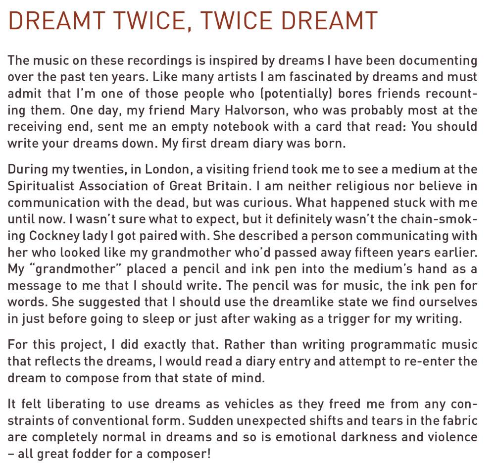 Dreamt Twice, Twice Dreamt